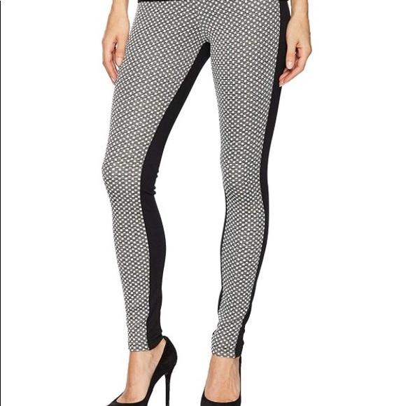 07f22ad72f301 HUE Pants | New Glitz Check Ponte Leggings Black White | Poshmark
